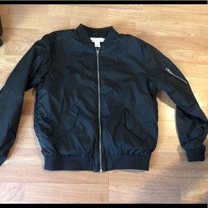 Men's H&M black bomber jacket